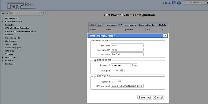 IBMPower REST API cfg